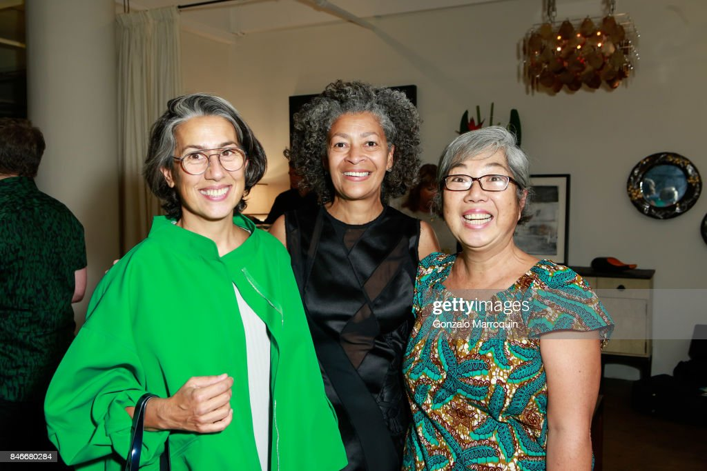Yesim Dilaver, Angela Brown and Charm Su attend the Atlantica Collection by Antonio da Motta Leal for Alexander Lamont on September 13, 2017 in New York City.