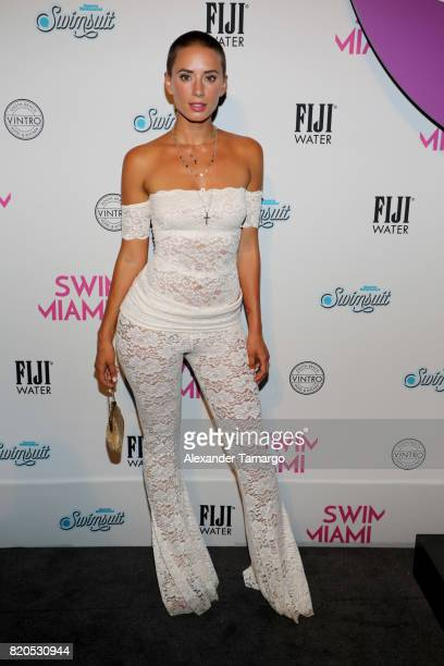 YesJulz attends SWIMMIAMI HotAsHell 2018 Collection at 227 22nd Street on July 21 2017 in Miami Beach Florida