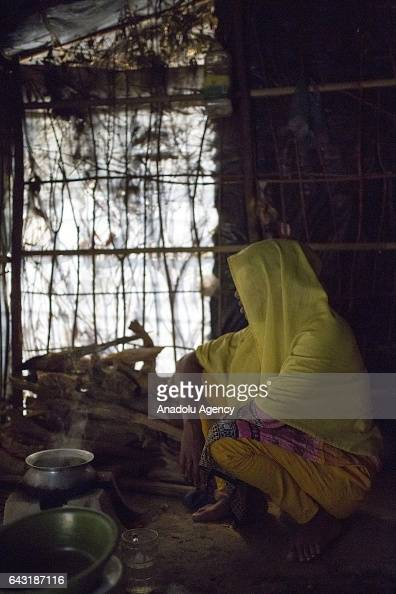 COX'S BAZAR BANGLADESH FEBRUARY 20 Yesmin one of the women who were raped by Myanmar armed forces members takes shelter at Leda unregistered Rohingya...