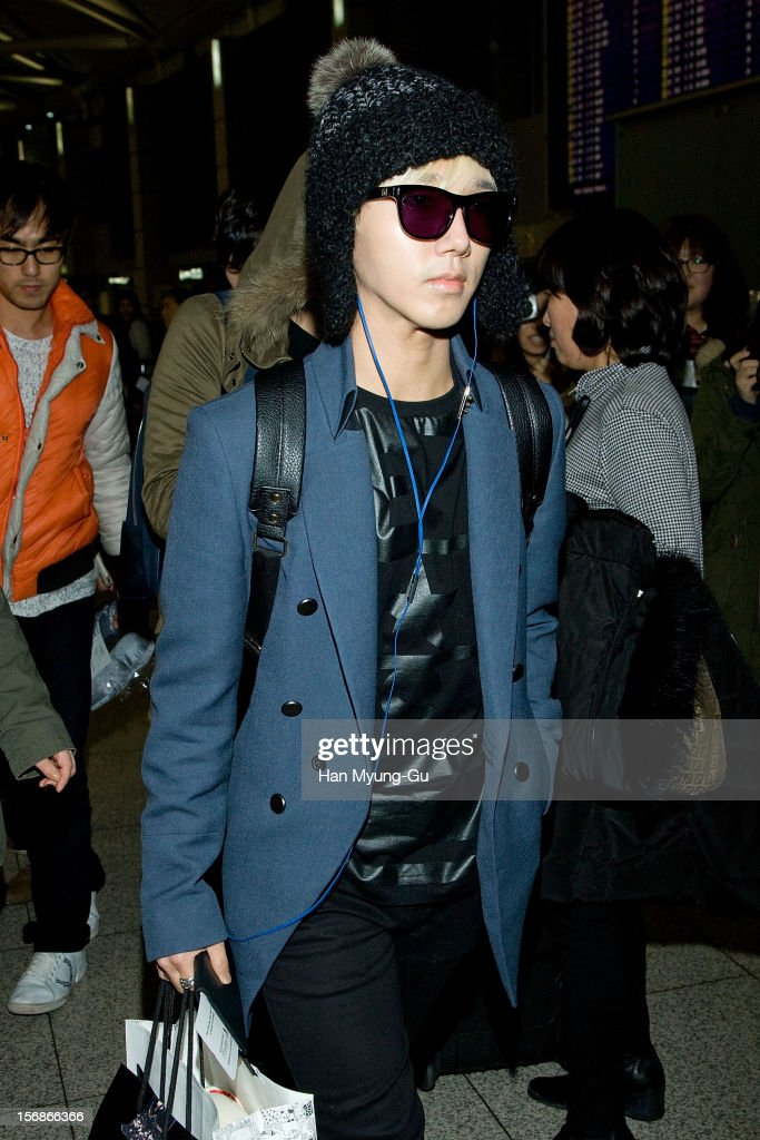 Yesung of South Korean boy band Super Junior is seen at Incheon International Airport on November 22, 2012 in Incheon, South Korea.