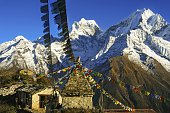 Yeti Lodge in Nepal Himalayan Mountains while trekking to Gokyo Valley