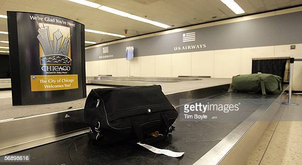 Yettobeclaimed luggage is seen at the US Airways baggage claim area February 21 2006 at O'Hare International Airport in Chicago Illinois 2005 was...