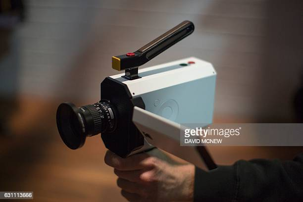 A yettobereleased version of the Kodak Super 8 camera is shown during the 2017 Consumer Electronic Show in Las Vegas Nevada January 6 2017 / AFP /...