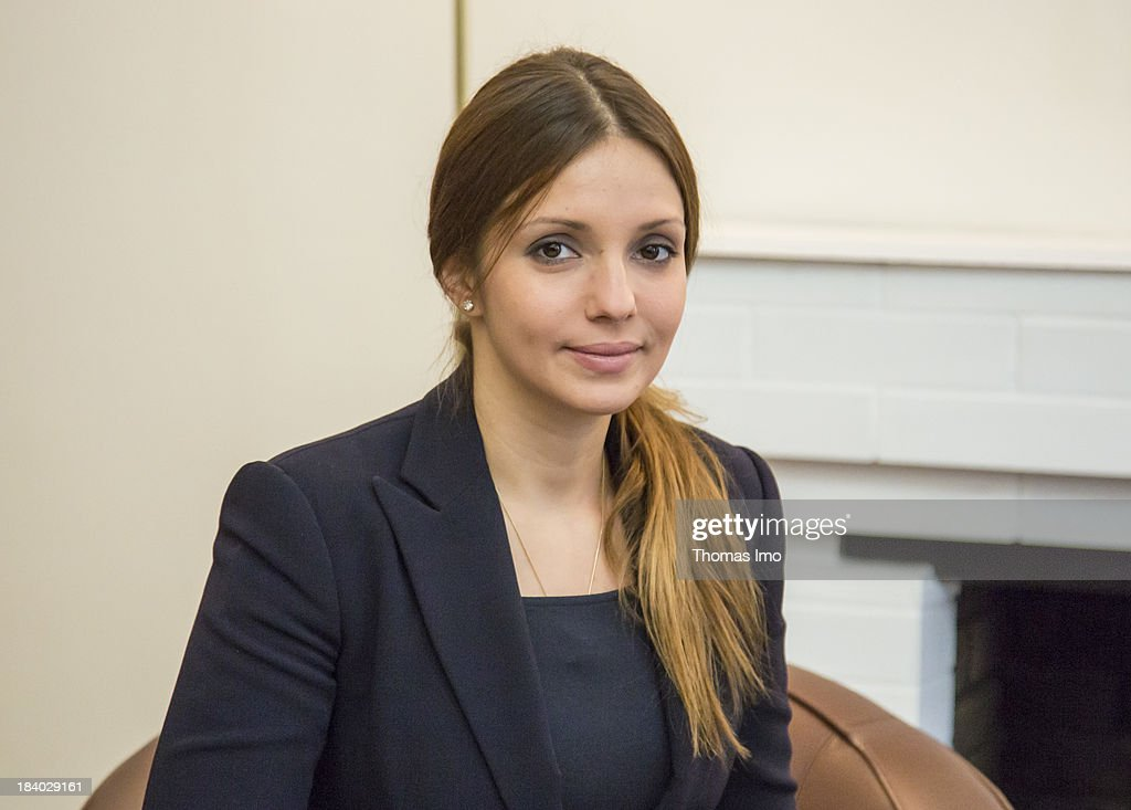 Yevgeniya Tymoshenko, the daughter of Ukraine's former prime minister Yulia Tymoshenko poses before a meeting with German Foreign Minister Guido Westerwelle (not pictured) on October 11, 2013 in Kiev, Ukraine. Westerwelle is on a two-day trip in kiev, for bilateral meetings and to attend the international conference 'The Way Ahead for the Eastern Partnership'.