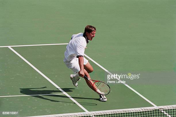 Yevgeny Kafelnikov from Russia during the final of the men's singles at the 2000 Olympics