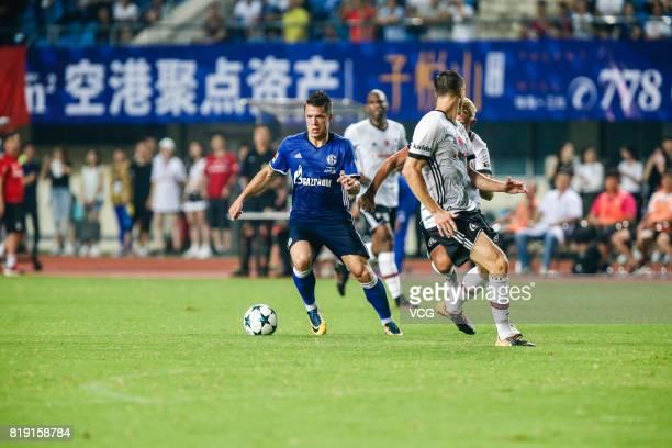 Yevhen Konoplyanka of FC Schalke 04 drives the ball during the 2017 International soccer match between Schalke 04 and Besiktas at Zhuhai Sports...