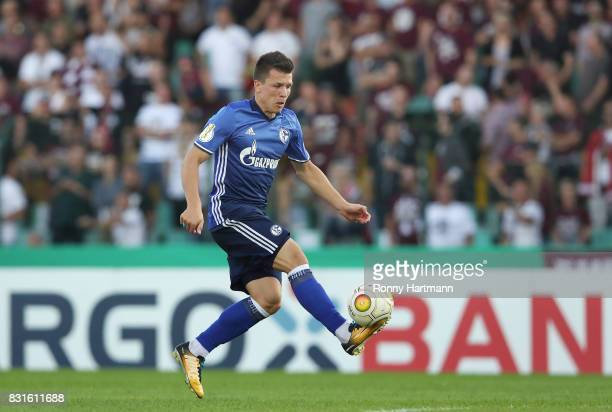 Yevhen Konoplyanka of Schalke controls the ball during the DFB Cup first round match between BFC Dynamo and FC Schalke 04 at...