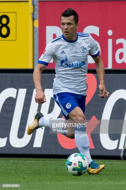 Yevhen Konoplyanka of Schalke controls the ball during the preseason friendly match between SC Paderborn and FC Schalke 04 at BentelerArena on July...
