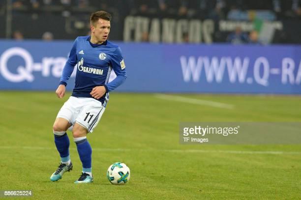 Yevhen Konoplyanka of Schalke in action during the Bundesliga match between FC Schalke 04 and 1 FC Koeln Bundesliga at VeltinsArena on December 2...