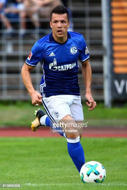 Yevhen Konoplyanka of Schalke runs with the ball during the preseason friendly match between SpVgg Erkenschwick and FC Schalke 04 at Stimberg Stadium...