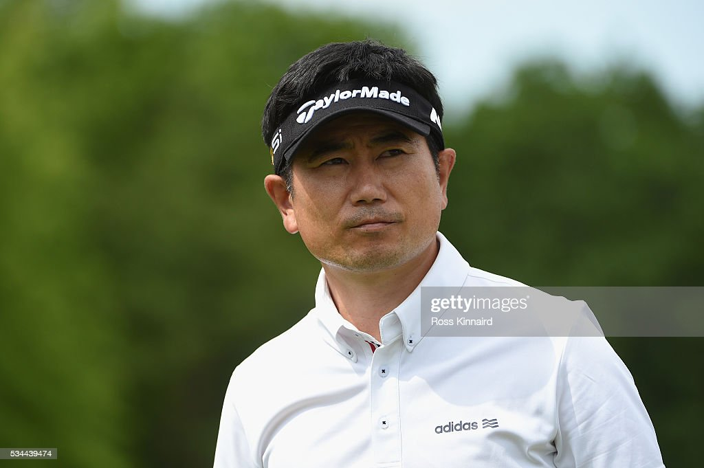 Yang of Korea looks on during day one of the BMW PGA Championship at Wentworth on May 26, 2016 in Virginia Water, England.