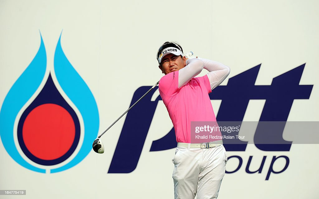 Y.E.Yang of South Korea in action during round one of the Chiangmai Golf Classic at Alpine Golf Resort-Chiangmai on March 28, 2013 in Chiang Mai, Thailand.