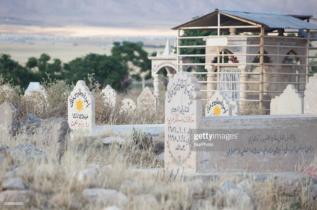 Yezidi cementary in Sharya city in Kurdistan. 30 May, 2016, Sharya, Kurdistan