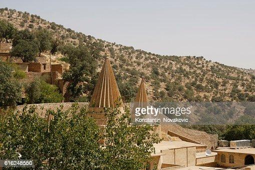 Yezidi temples in Iraqi Kurdistan (North Iraq) : Foto de stock