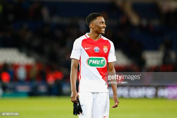 Yhoan Andzouana of Monaco during the Semi final of the French Cup match between Paris SaintGermain and As Monaco at Parc des Princes on April 26 2017...