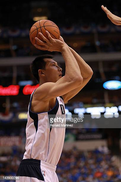 Yi Jianlian of the Dallas Mavericks during Game Three of the Western Conference Quarterfinal at American Airlines Center on May 3 2012 in Dallas...