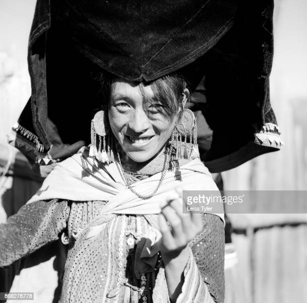 Yi woman at a wedding the mountains above Weixi in Yunnan province China The marriage to the boy next door was arranged 15 years prior to the day the...
