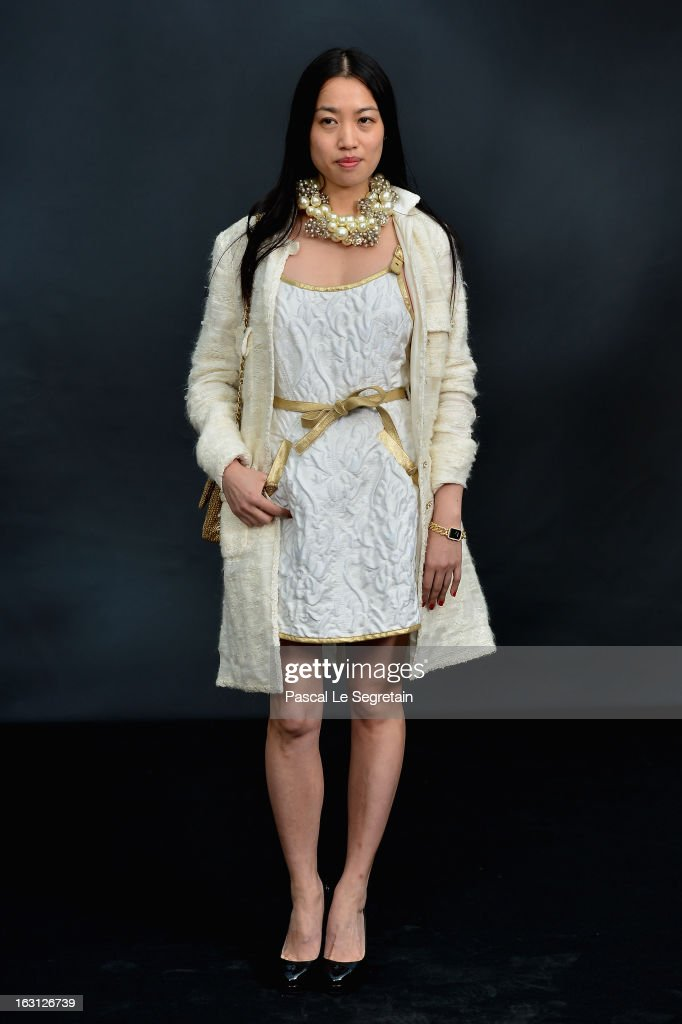 Yi Zhou attends the Chanel Fall/Winter 2013 Ready-to-Wear show as part of Paris Fashion Week at Grand Palais on March 5, 2013 in Paris, France.