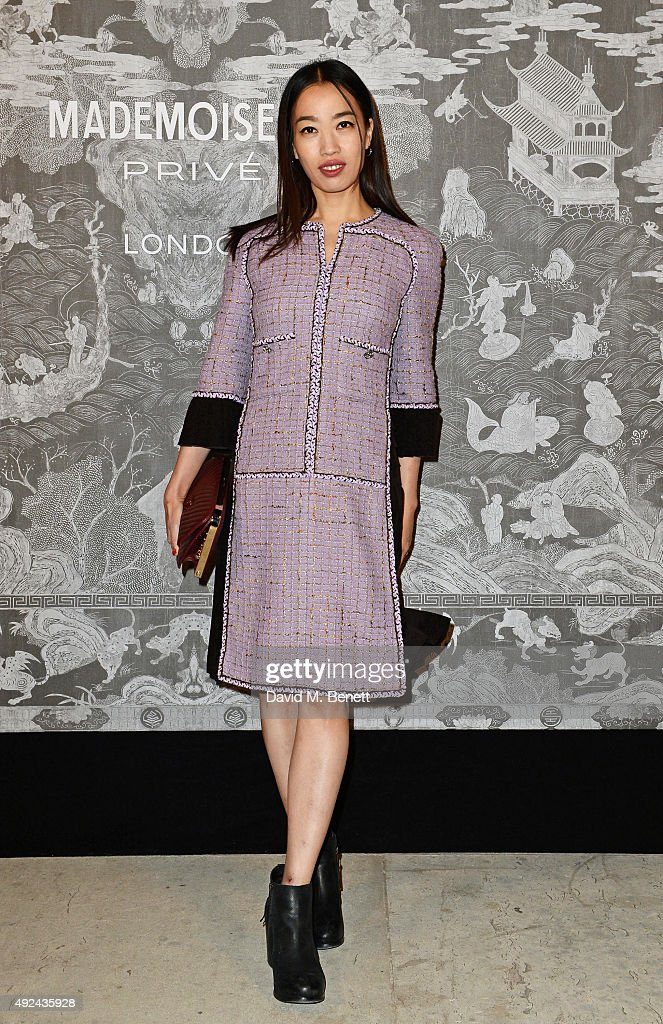 Yi Zhou attends the Mademoiselle Prive Exhibition at the Saatchi Gallery on October 12, 2015 in London, England.