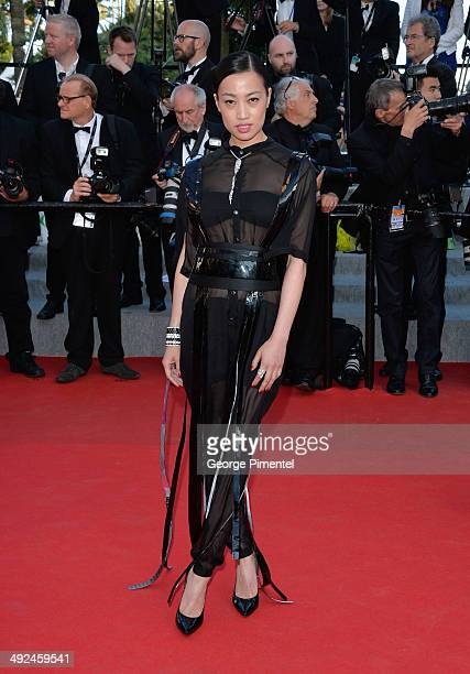 Yi Zhou attends the 'Two Days One Night' Premiere at the 67th Annual Cannes Film Festival on May 20 2014 in Cannes France