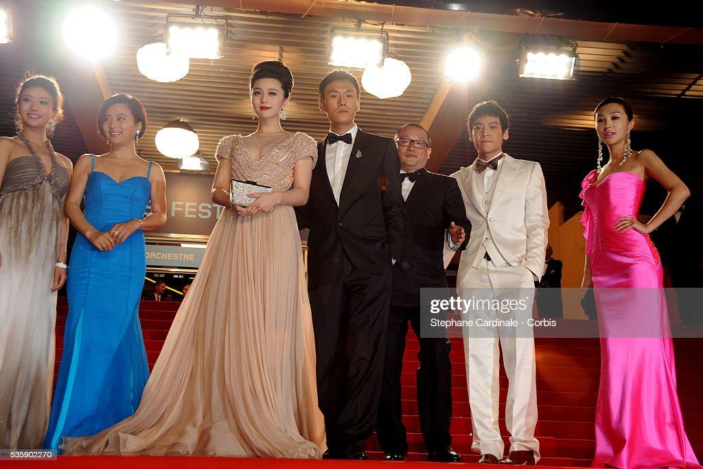 Yi Zi, Li Feier, Hao Qin, Wang Xiaoshuai , Fan BingBing attend the Premiat the premiere of ?Chongqing Blues? during the 63rd Cannes International Film Festival.