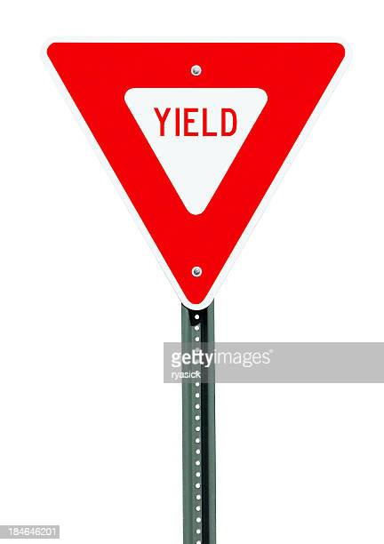 Yield Road Sign Isolated