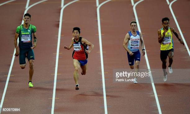 Yifei Yang of China in action during the final of the mens 100m T36 on day nine of the IPC World ParaAthletics Championships 2017 at London Stadium...