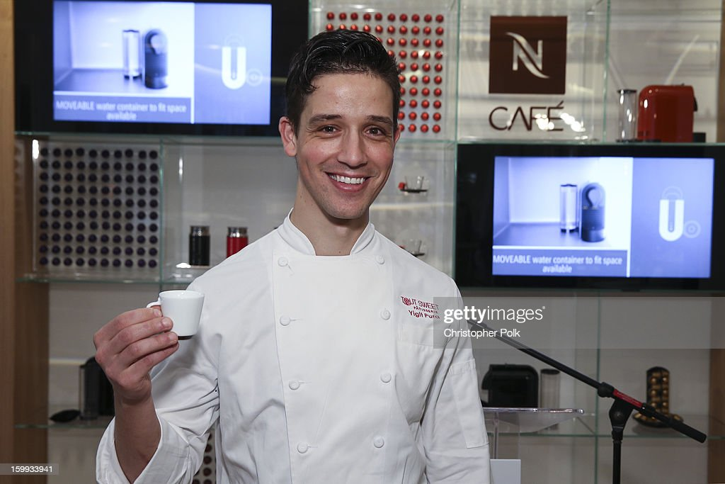 Yigit Pura, winner of the first season of Top Chef Desserts, celebrates the opening of the Nespresso Flagship Boutique on January 23, 2013 in San Francisco, California.