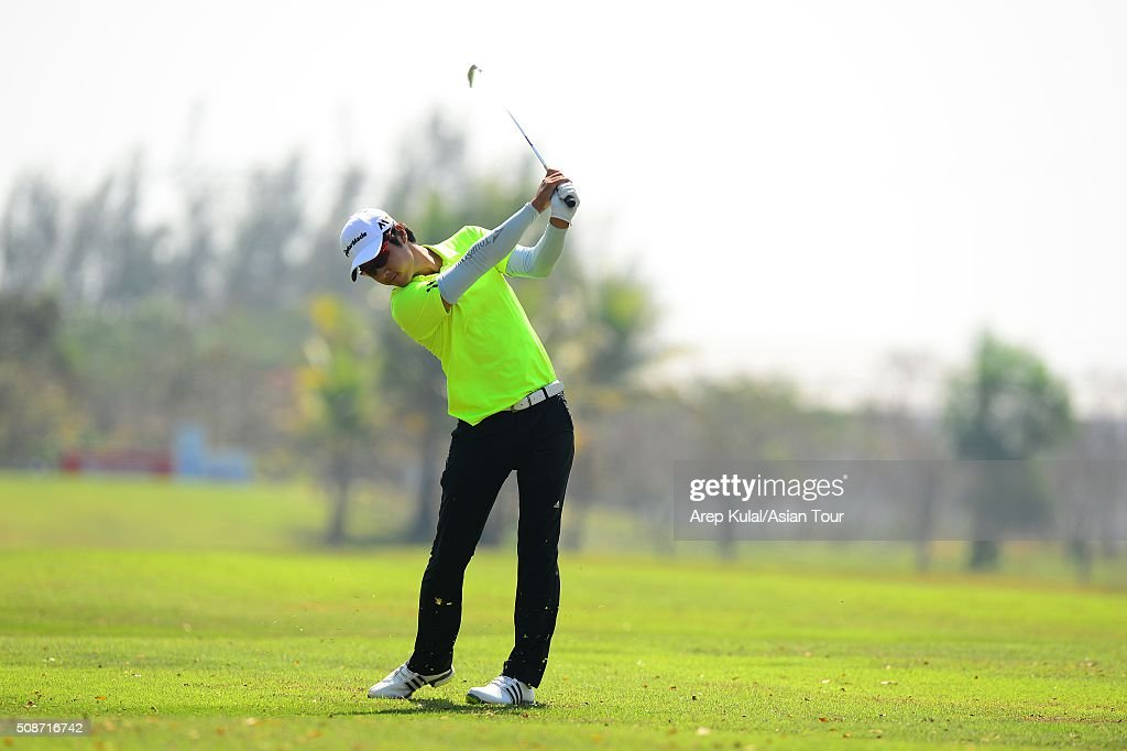 Yikeun Chang of Korea pictured during round three of the Leopalace21 Myanmar Open at Royal Mingalardon Golf and Country Club on February 6, 2016 in Yangon, Myanmar.
