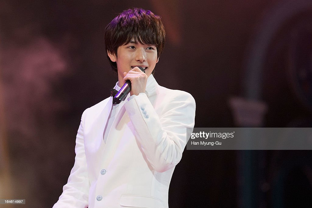 A Five (Children Of Empire) performs onstage their 1st album showcase at Lotte World on March 24, 2013 in Seoul, South Korea.