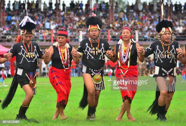 Yimchungar Naga performs a dance during the 70th India Independence day celebration in Dimapur India north eastern state of Nagaland on Tuesday 15...