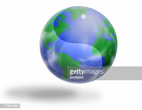 Yin Yang World : Stock Photo