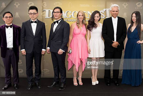 Yin Yushin Jack Ji Keely Hawkes Jane Zhang Bill Borden and Ran Zhao attend the 'Dragon Nest' photocall during the 67th Annual Cannes Film Festival on...