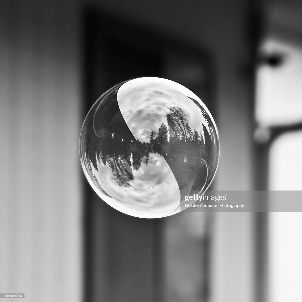 Ying Yang Bubble : Stock Photo