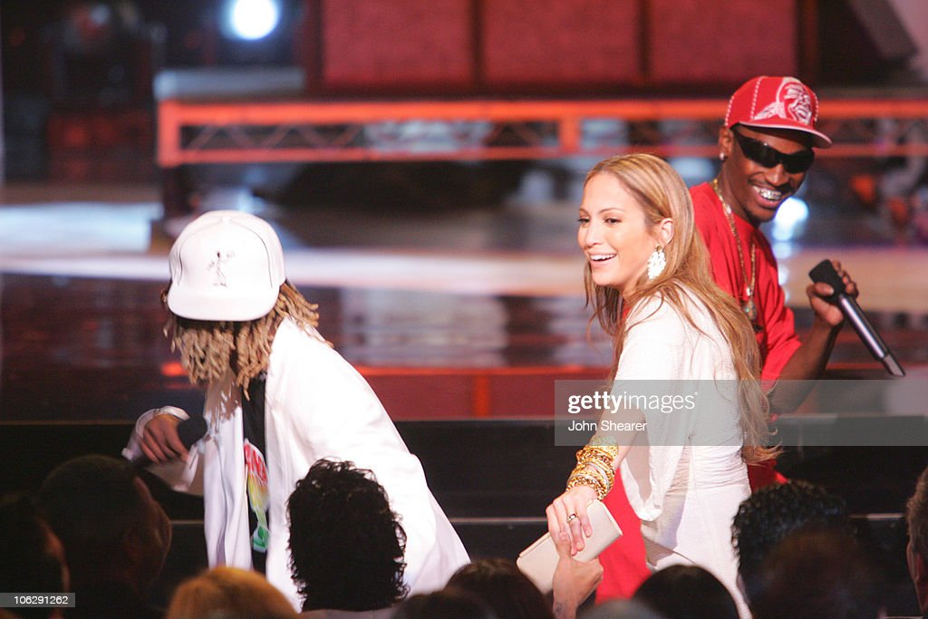 Ying Yang Twins with Jennifer Lopez during 2006 NCLR ALMA Awards Show at Shrine Auditorium in Los Angeles California United States