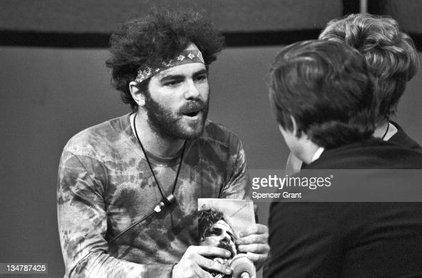 Yippie Jerry Rubin interviewed at WBZ TV Studio Brighton Boston Massachusetts 1970