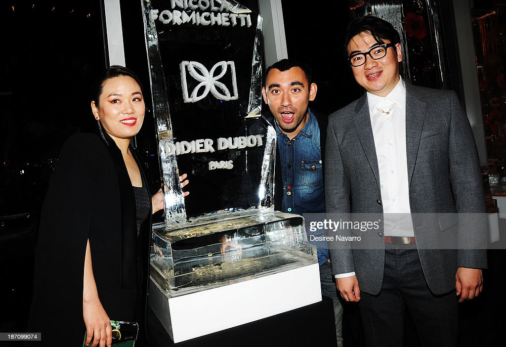 Yira Park, Nicola Formichetti and Kyung Kyu Kim attend the Didier Dubot Jewelry Launch at The Standard on November 5, 2013 in New York City.