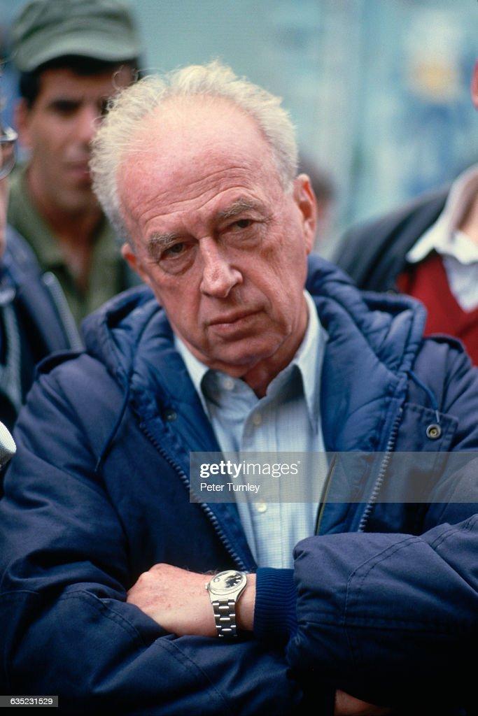 Yitzhak Rabin Being Interviewed