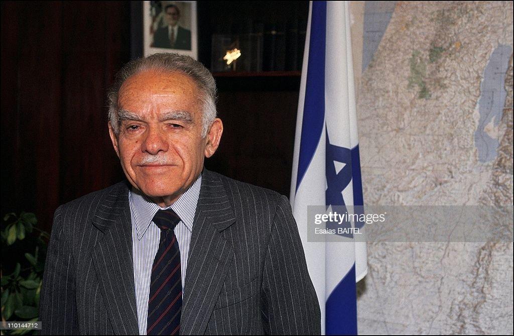 Yitzhak Shamir in his office in Israel in February 11, 1991.