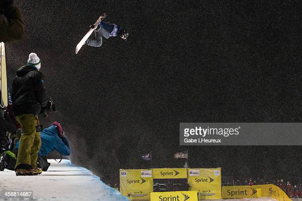 Yiwei Zhang goes big during his finals halfpipe run on December 21 2013 at Copper Mountain Colorado