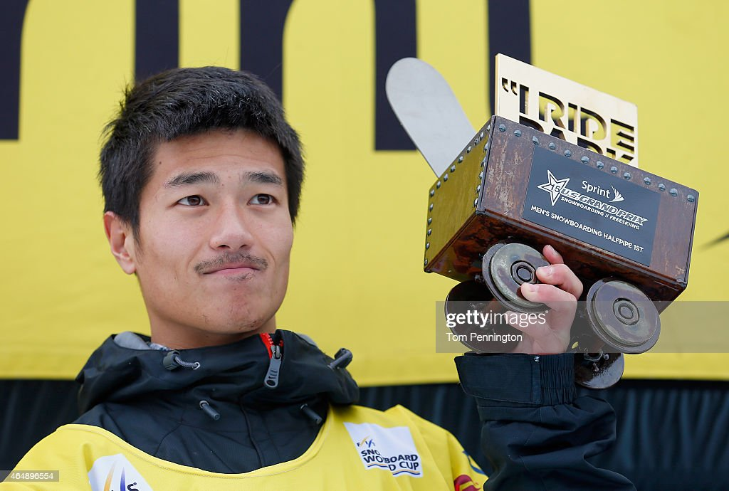 <a gi-track='captionPersonalityLinkClicked' href=/galleries/search?phrase=Yiwei+Zhang&family=editorial&specificpeople=8090733 ng-click='$event.stopPropagation()'>Yiwei Zhang</a> of China celebrates after winning the FIS Snowboard World Cup 2015 Men's Snowboard Halfpipe Final during the U.S. Grand Prix at Park City Mountain on March 1, 2015 in Park City, Utah.