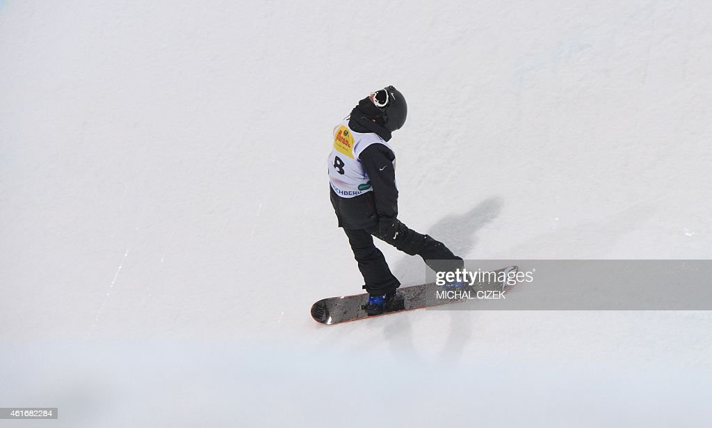<a gi-track='captionPersonalityLinkClicked' href=/galleries/search?phrase=Yiwei+Zhang&family=editorial&specificpeople=8090733 ng-click='$event.stopPropagation()'>Yiwei Zhang</a> of China reacts during the Men's Snowboard Halfpipe competition of the FIS Freestyle and Snowboarding World Ski Championships 2015 in Kreischberg, Austria on January 17, 2015. Australia's Scotty James won gold ahead of <a gi-track='captionPersonalityLinkClicked' href=/galleries/search?phrase=Yiwei+Zhang&family=editorial&specificpeople=8090733 ng-click='$event.stopPropagation()'>Yiwei Zhang</a> of China and Tim-Kevin Ravnjak of Slovenia.