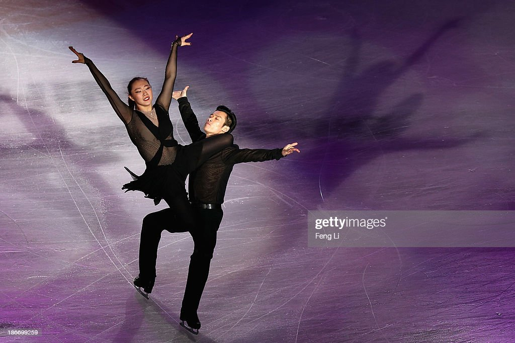 Yiyi Zhang and Nan Wu of China perform during Lexus Cup of China ISU Grand Prix of Figure Skating 2013 at Beijing Capital Gymnasium on November 3, 2013 in Beijing, China.
