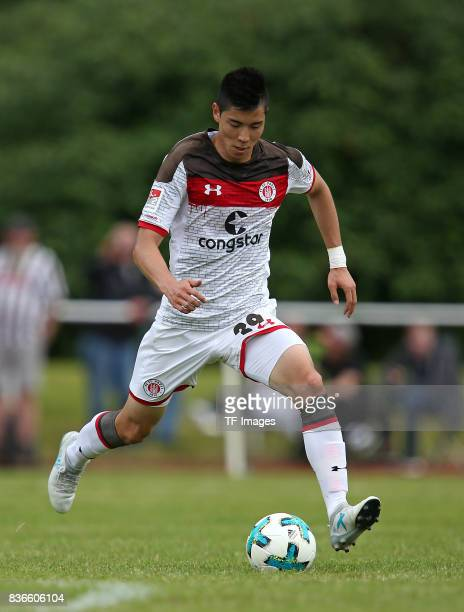 Yiyoung Park of St Pauli controls the ball during the preseason friendly match between VfB Oldenburg and FC St Pauli on July 8 2017 in Varel Germany