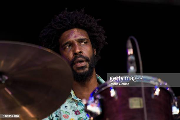 Ynaia Benthroldo of the Boogarins performs on EDP stage at day 1 of Super Bock Super Rock festival on July 13 2017 in Lisboa CDP Portugal