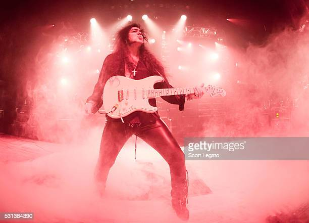 Yngwie Malmsteen performs during the Generation Axe Tour at The Royal Oak Music Theater on May 2 2016 in Royal Oak Michigan