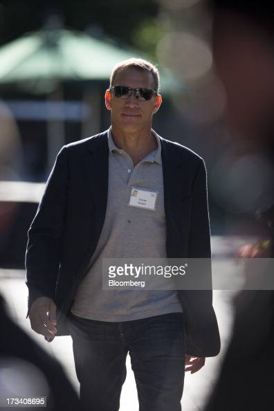 Ynon Kreiz executive chairman of Maker Studios walks to a morning session at the Allen Co Media and Technology Conference in Sun Valley Idaho US on...