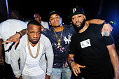 Yo Gotti Mack Wilds and Low Key attend Trap Karaoke Powered by BET Awards on June 23 2016 in Los Angeles California