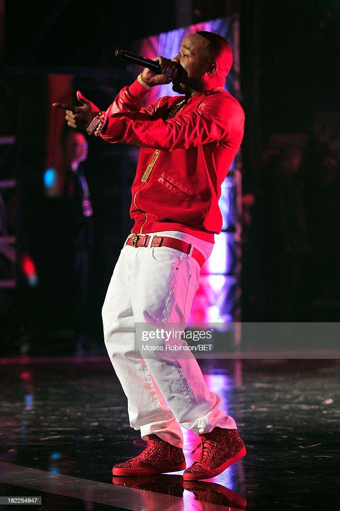 Yo Gotti performs onstage at the BET Hip Hop Awards 2013 at Boisfeuillet Jones Atlanta Civic Center on September 28, 2013 in Atlanta, Georgia.