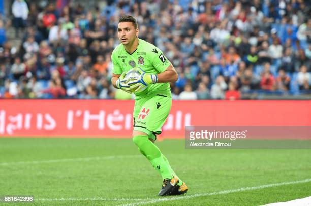 Yoan Cardinale of Nice during the Ligue 1 match between Montpellier Herault SC and OGC Nice at Stade de la Mosson on October 14 2017 in Montpellier